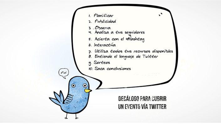 Decálogo para cubrir un evento vía Twitter