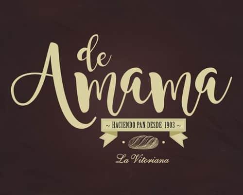 DeAmama cabecera, diseño de logotipo, imagen corporativa