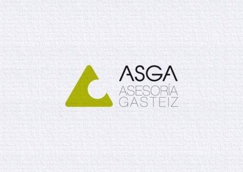 Logotipo Asga, imagen corporativa, versión horizontal