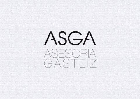 Logotipo Asga, imagen corporativa, Tipografía