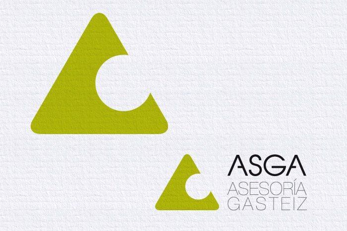 Logotipo Asga, imagen corporativa, Símbolo