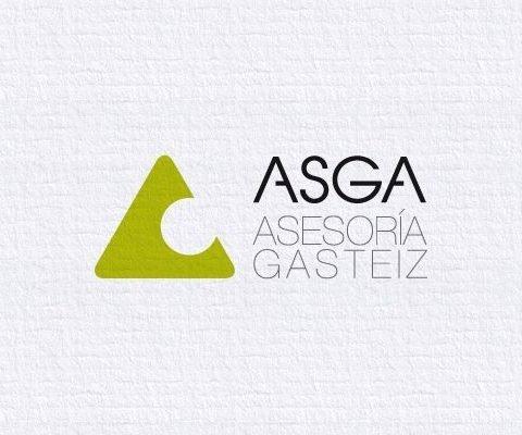 Logotipo Asga, imagen corporativa y diseño gráfico