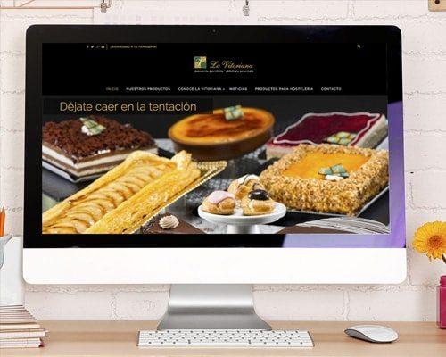 Diseño web - Página implementada para La Vitoriana Gasteiz - Burman agencia de Comunicación y Marketing