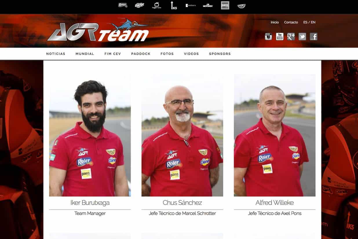 Diseño web, AGR team, equipo