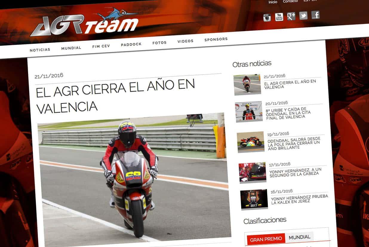 Diseño web, AGR team, Noticias