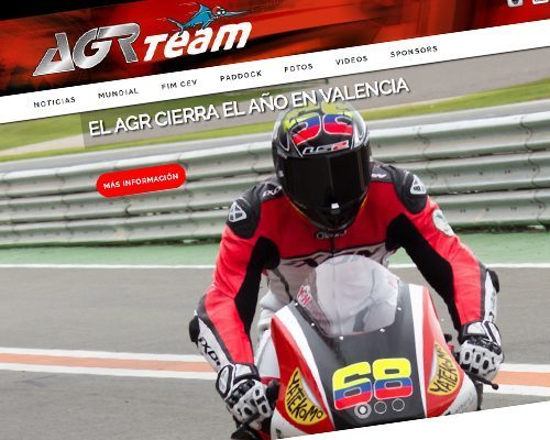 Diseño web, AGR team, primera