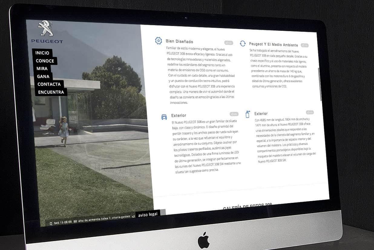 Diseño web - Página para Agromotor Vitoria - Burman agencia de Comunicación y Marketing