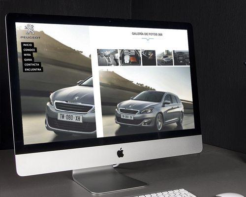 Landing Page - Página para Peugeot Vitoria - Burman agencia de Comunicación y Marketing
