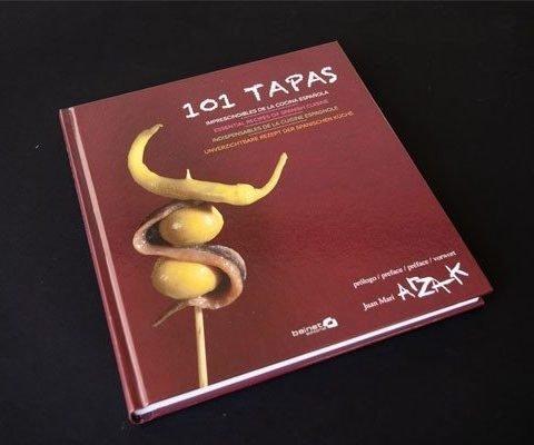 Diseño Gráfico y editorial del Libro 101 Tapas Los imprescindibles de la cocina española de Arzak Portada