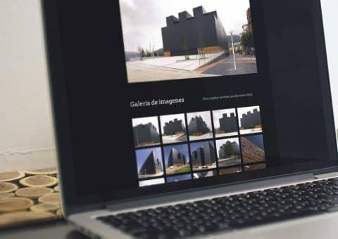web de la página Bizkaia Frontoia detalle galería edificio.