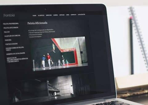 web de la página Bizkaia Frontoia detalle pelota aficionada.