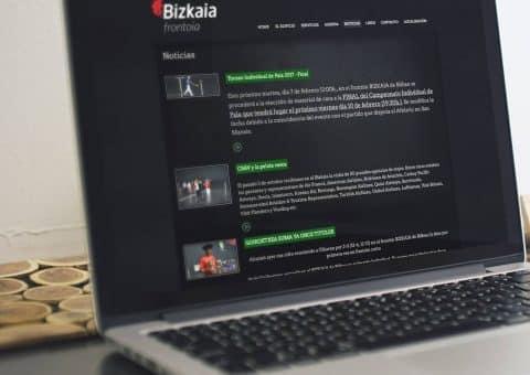 web de la página Bizkaia Frontoia detalle noticias.