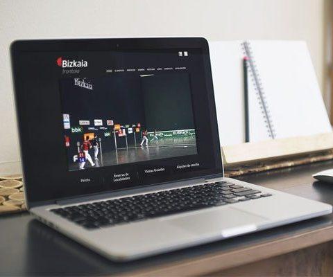 Portal web de la página Bizkaia Frontoia imagen destacada.