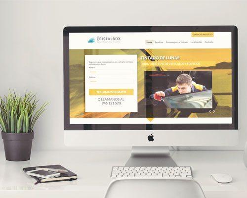 Diseño web de la página Cristalbox imagen destacada.
