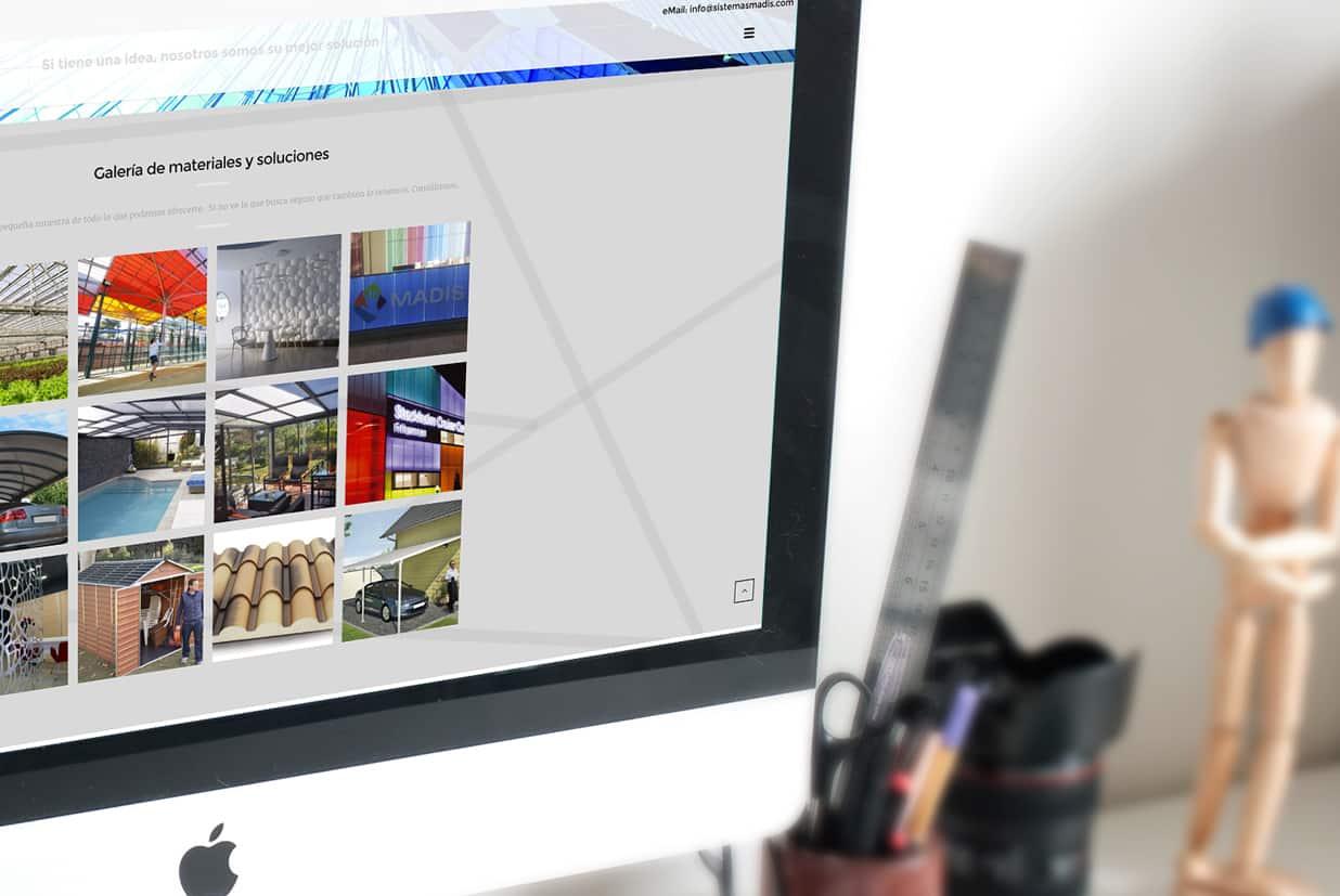 Diseño web de la página MADIS SL detalle galería.