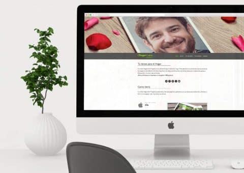 Diseño web de la página Hogarmania index.