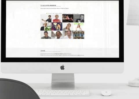 Diseño web de la página Hogarmania detalle contenidos.