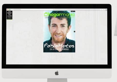 Diseño web de la página Hogarmania detalle revista.