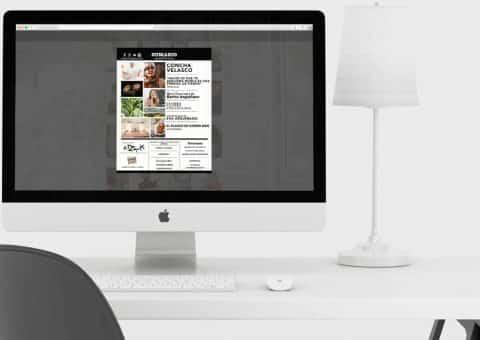 Diseño web de la página Hogarmania detalle previsualización revista.