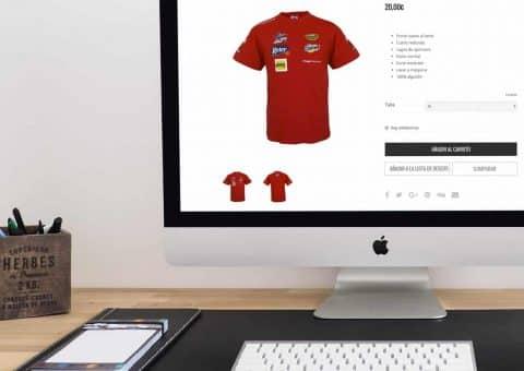 Diseño web de la página AGR SHOP detalle compra.