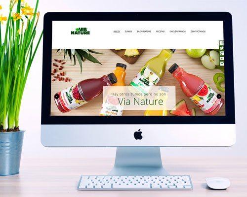 web de la página Via Nature imagen destacada.