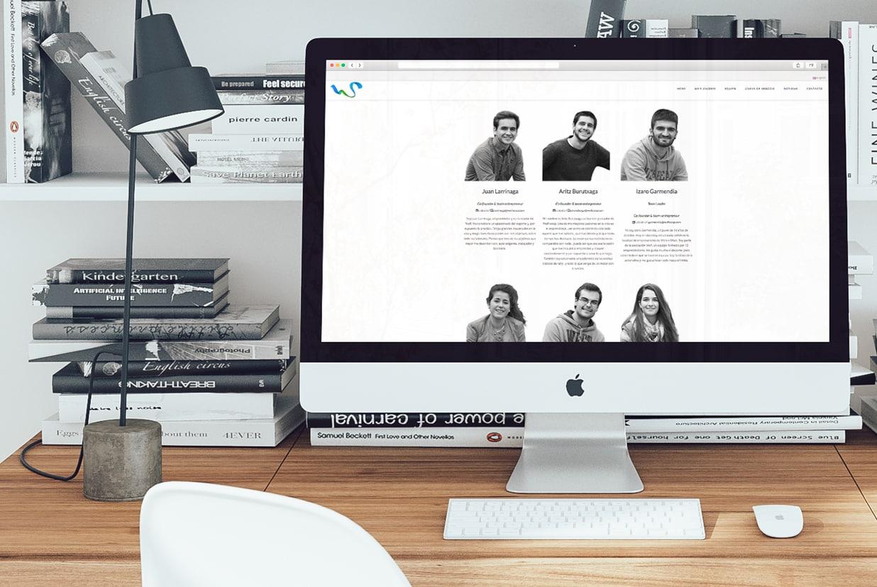 Diseño web de la página Sweifcoop detalle equipo.