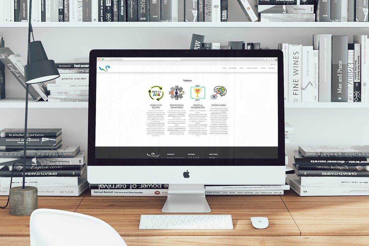 Diseño web de la página Sweifcoop detalle valores.