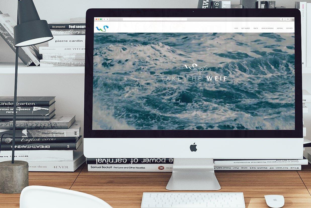 Diseño web de la página Sweifcoop index.