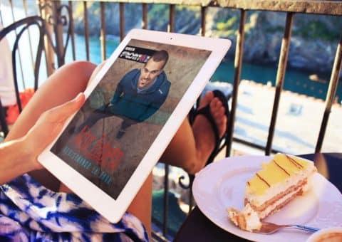 Revista digital Frontón con Aitor Zubieta de portada, creada por Burman comunicación