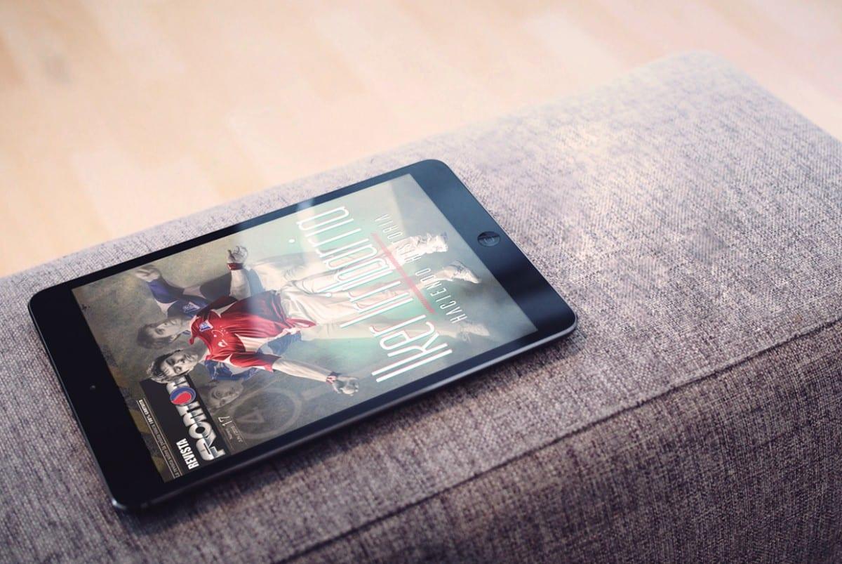 Revista digital Frontón con Iker Irribarria de portada, creada por Burman comunicación