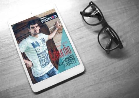 Revista digital Frontón con Joseba Ezkurdia de portada, creada por Burman comunicación
