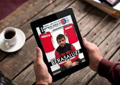 Revista digital Frontón con Berasaluze, Magia en las manos de portada, creada por Burman comunicación