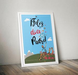 Cartel del día del padre para