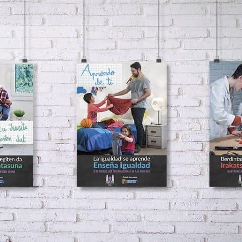 Campaña Emakunde 2018 - Aprendo de ti - La igualdad se aprende, enseña igualdad