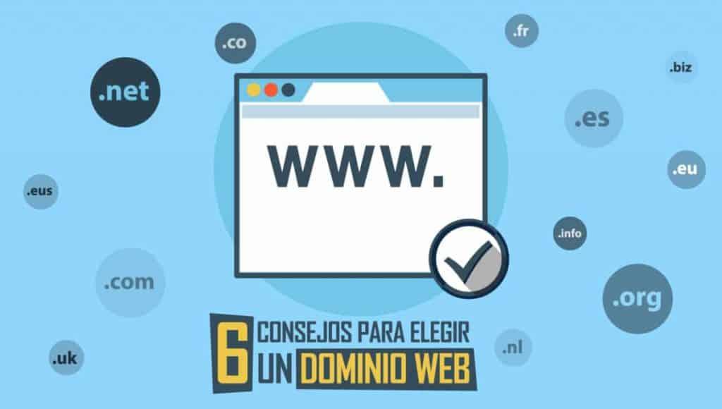 6 consejos para elegir un dominio web